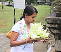 Woman with flowers Kandy Sri Lanka.jpg