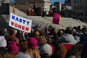 Nasty woman - Women's March in Topeka, Kansas, 2017