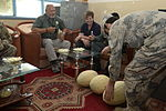 Women from 203rd Zone Afghan Border Police and TAAC-S attend shura at Kandahar Airfield, Afghanistan 150809-N-SQ656-130.jpg