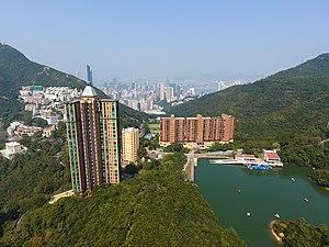 Wong Nai Chung Gap - Aerial view of Wong Nai Chung Gap