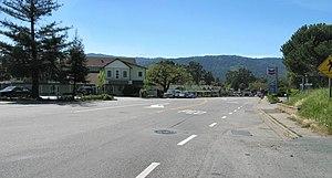Woodside, California - Downtown Woodside business district on Woodside Road