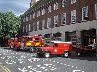 Hereford and Worcester Fire appliances Worcester Fire Station - geograph.org.uk - 883380.jpg