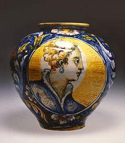 Workshop of Domenico da Venezia - Apothecary Jar with Two Female Busts - Walters 481768