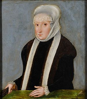 Isabella Jagiellon - Portrait of Isabella by Lucas Cranach the Younger (around 1565)
