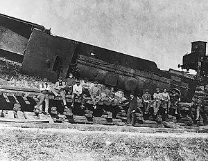 Wawelberg Group - German train derailed by the Poles at Kędzierzyn-Koźle