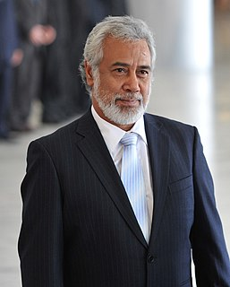 Xanana Gusmão former President and Prime Minister of East Timor