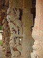 Yali pillars1 at Ranganatha temple in Rangasthala, Chikkaballapur district.jpg