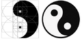 Yin yang from a golden spiral.png