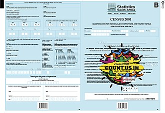 South African National Census of 2001 - Questionnaire B