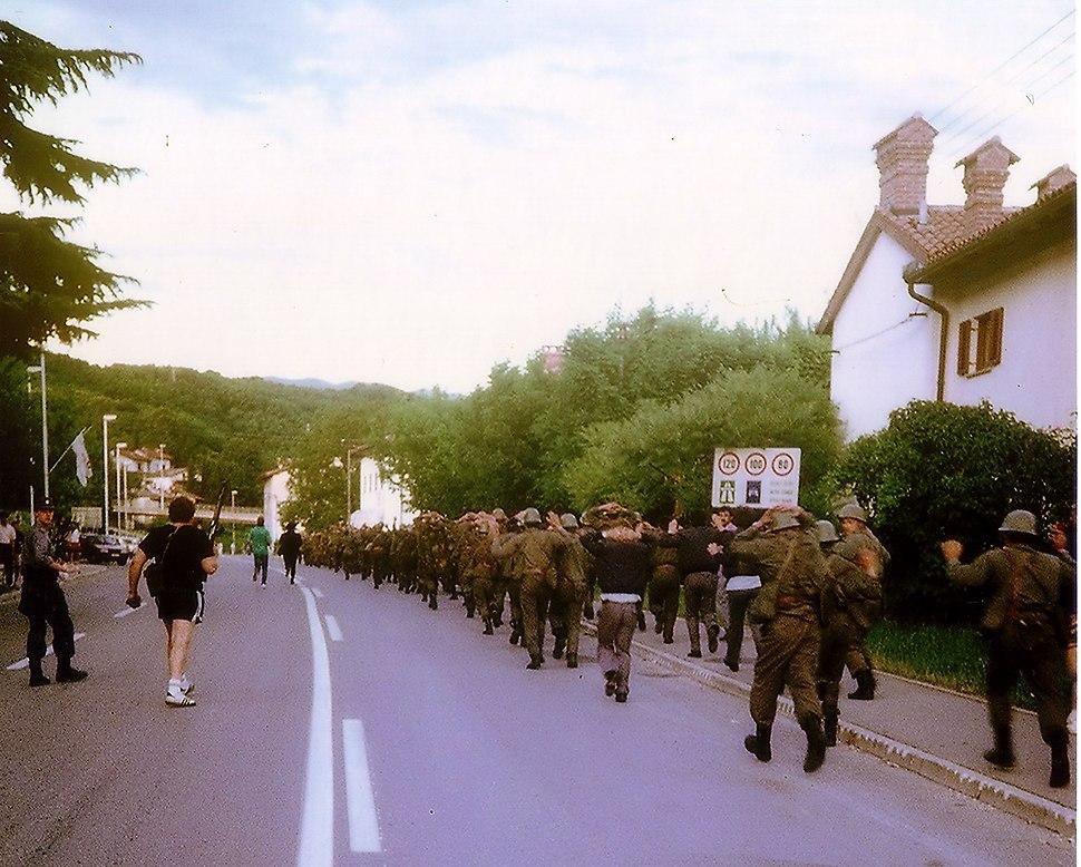 Zajeti vojaki v Rožni Dolini