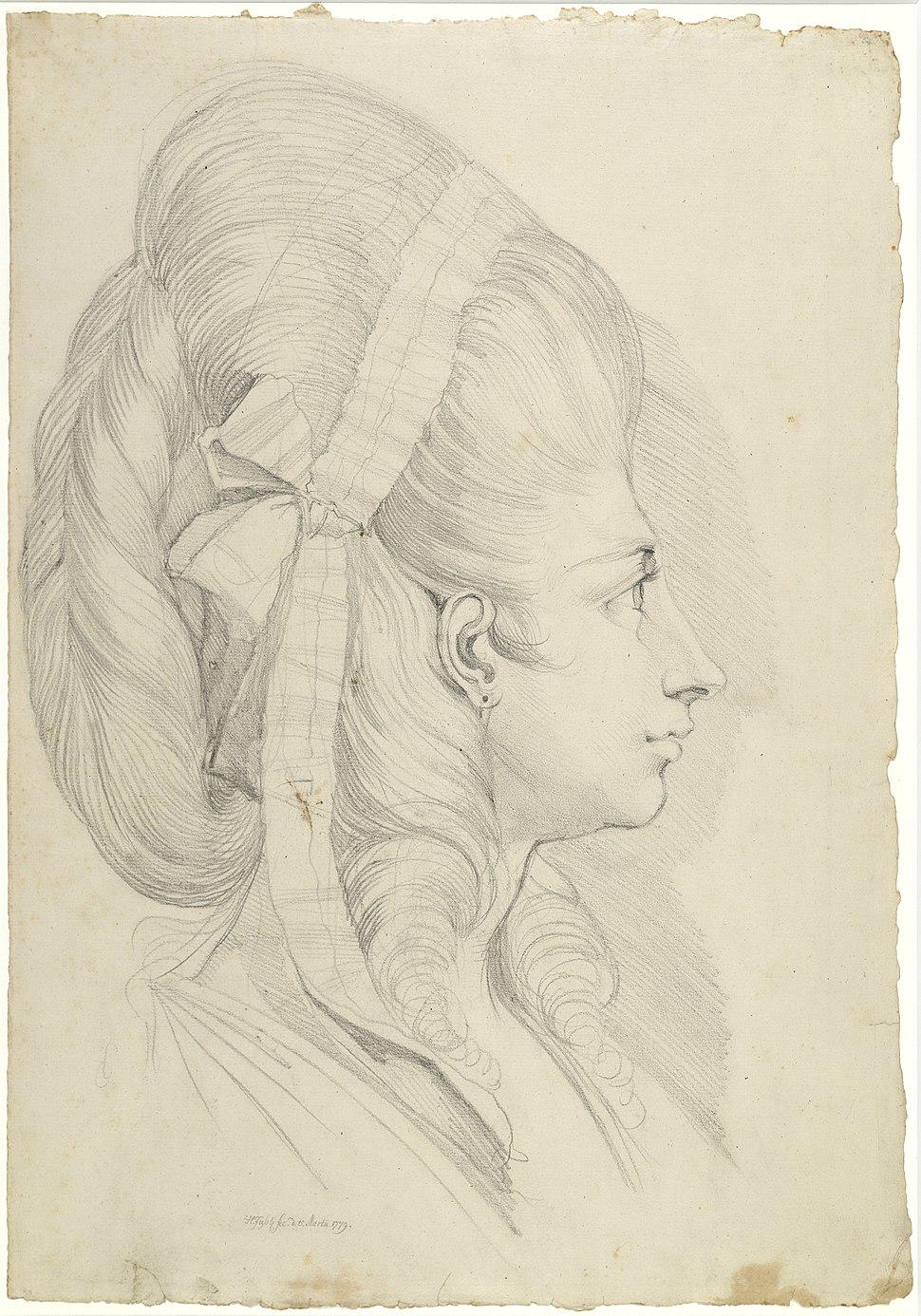 Zentralbibliothek Zürich - Portät von Anna Magdalena Schweizer geb Hess im Alter von 27 Jahren - 000003019