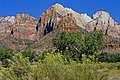 Zion Park Bee Hive Peak and The Sentinel.jpg