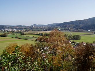 Zollfeld - View from Karnburg to Maria Saal