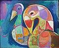 Zwei Vögel, Margret Hofheinz-Döring, Öl, 1989 (WV·Nr.7703).JPG