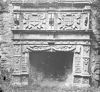 Donegal Castle - Brooke Fireplace in the Great Hall of Donegal Castle, 1895