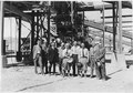 """Group including members of the Concrete Consulting Board at the Six Companies' screening and washing plant. From... - NARA - 293630.tif"