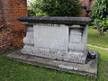 'Church of St Andrew' Greensted, Ongar, Essex England - table tomb at east.JPG