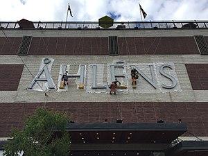 Åhléns - Renovation of the sign of Åhléns City, 2017