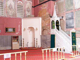 Kalenderhane Mosque - The sanctuary with the mihrab and minbar