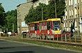 Łodź, Wojska Polskiego, modernizovaná tramvaj Konstal.JPG