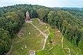 Łużna, Widok na Cmentarz Wojenny z drona.jpg