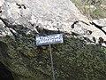 Πιέρια όρη - Πινακίδα βράχου έξω από το χωριό Δάσκιο.jpg