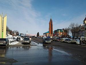 Arsk - Sovetskaya Square in Arsk