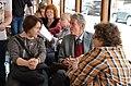Борис Аверин в музейном трамвае.jpg