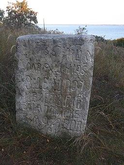 Камінь з написами у с.Трахтемирів