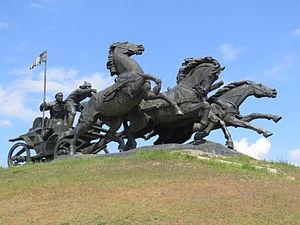 Kakhovka - Tachanka monument