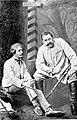 М. П. Садовский (Счастливцев, слева) и Н. Х. Рыбаков (Несчастливцев) в пьесе Лес.jpg