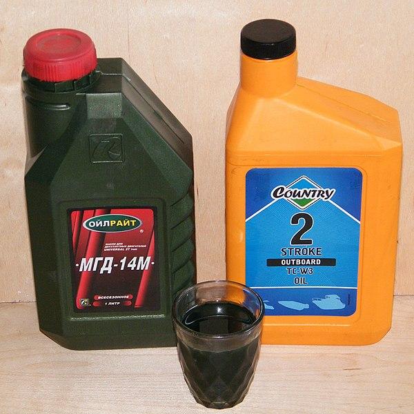 развести масло для лодочного мотора