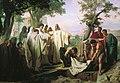 Святой Григорий проклинает умершего монаха за нарушение обета бессеребрия.jpg