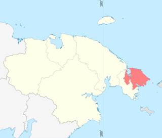 Чукотский район — Википедия Чукотский Автономный Округ Флаг