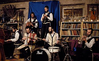 Klezmer - The Jerusalem Klezmer Association with Ultra Orthodox Jewish musicians are playing Klezmer music