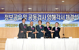 Financial Supervisory Service (South Korea) - FSS signs a memorandum of understanding on information sharing and joint examination with FSC, BOK, and KDIC.