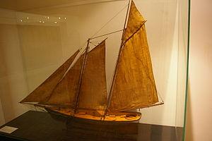 America (yacht) - America model in Musee de la marine.