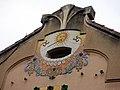 094 Casa Barbey, façana sud, rellotge de sol (la Garriga).JPG