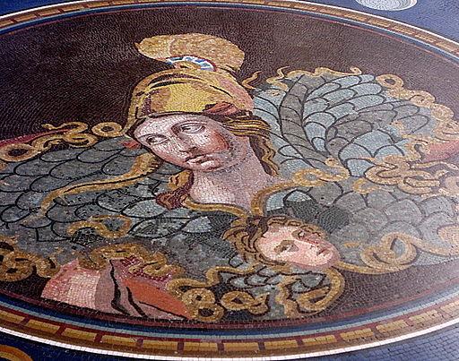 0 Athéna à l'égide - Mosaïque - Pio Clementino (Vatican 2)