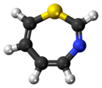 Ball-and-stick model of the 1,3-thiazepine molecule
