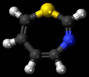 1,3-Thiazepine - Image: 1,3 Thiazepine 3D ball