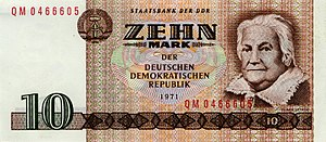 Clara Zetkin - Banknote of the GDR