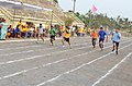 100 metres sprint in progress during the Eastern Naval Command Olympiad 2015.JPG