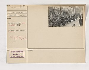 168th Infantry Regiment (United States) - 1918 at Rolampont, Haute-Marne
