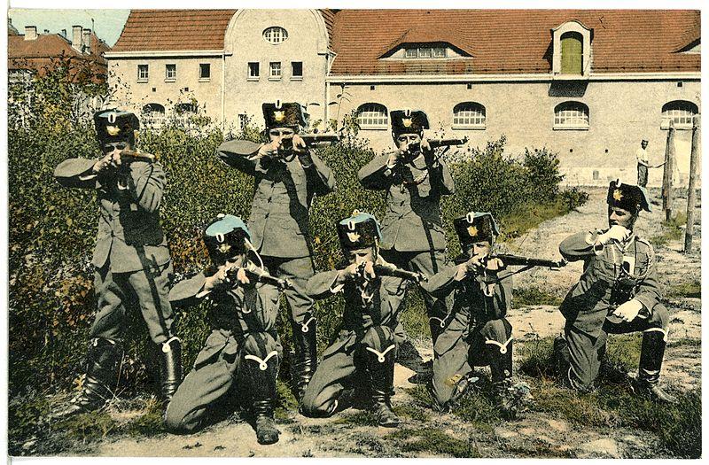 File:14031-Bautzen-1912-3. Husaren-Regiment Nr. 20 - Zur Salve fertig-Brück & Sohn Kunstverlag.jpg