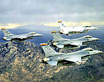 148th Fighter Squadron 4-aircraft F-16 formation.jpg