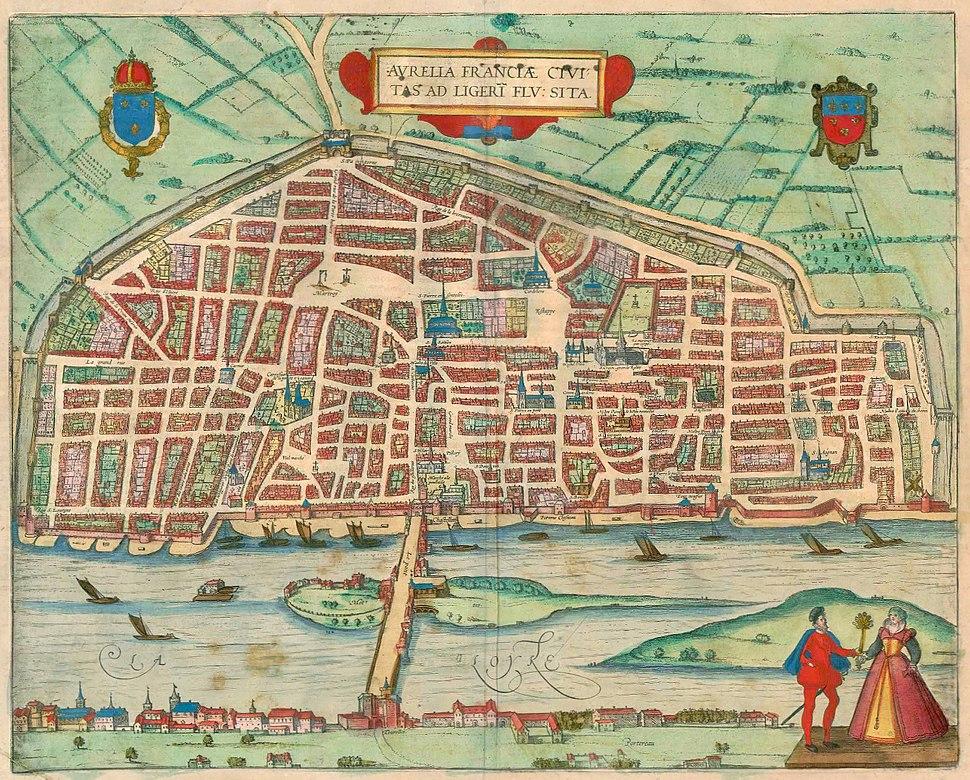1581-Aurelia Franciae civitas ad Ligeri flu