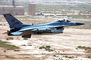 183rd Fighter Wing - 170th Expeditionary Fighter Squadron F-16C 87-0294 at Balad AB, Iraq, takes off on an Operation Iraqi Freedom mission on July 21st, 2006