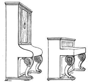 Robert Wornum - Wornum's largest and smallest uprights, ca. 1839
