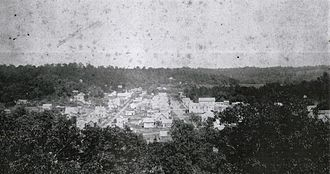 Excelsior Springs, Missouri - Excelsior Springs, Missouri as it appeared on July 14, 1886